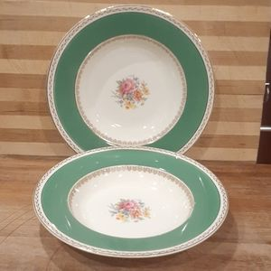 Made in ENGLAND : SET OF 2 CROWNWARE SOUP PLATES.